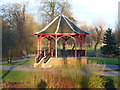 TF6219 : Bandstand in the winter sunlight by Richard Humphrey