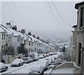 TQ3205 : Snow in Bonchurch Road -Jan 2013 by Paul Gillett
