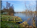 TQ4774 : Danson Park lake by Ian Yarham