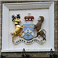TL7715 : Coat of arms on Terling Inn by Robin Webster