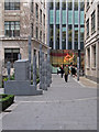 "TQ3381 : Fen Court and ""Gilt of Cain"" Sculpture by Roger Jones"