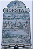 TQ7266 : Borstal Village Sign by David Anstiss