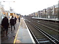 TQ2479 : The London Overground rail tracks at Kensington Olympia station by Helen Steed