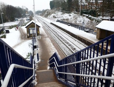 SK3578 : Dronfield railway station by Graham Hogg