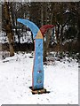 SK3872 : Millennium Milepost on the Trans Pennine Trail by Graham Hogg