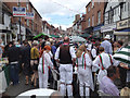 SP2865 : Smith Street market: barely room for Morris dancing by Robin Stott