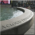 SP0686 : A cloud passed� fountain basin, Victoria Square, B2 by Robin Stott