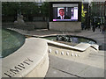 SP0686 : Giant TV screen, Victoria Square, B2 by Robin Stott
