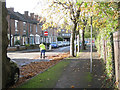 SP2865 : Sweeping up leaves, Guy's Cliffe Terrace by Robin Stott
