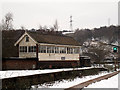 SE0925 : Halifax signal box by Stephen Craven