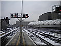TQ3079 : Snowy approaches to London Wateloo by Richard Vince
