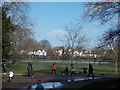 TQ3373 : View of houses in Dulwich Village from Dulwich Park #2 by Robert Lamb