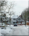 SO9095 : Buckingham Road in the snow, Penn, Wolverhampton by Roger  Kidd