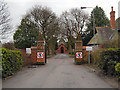 SJ5894 : Cemetery Gates by David Dixon