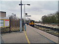 SJ5795 : Earlestown Station, Platform 3 by David Dixon