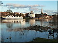 SO8454 : Worcester - River Severn in flood by Chris Allen