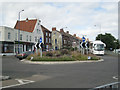 TG1542 : Planted roundabout at an A-road junction by Robin Stott