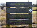 SJ5694 : Newton Common Lock Information Board by David Dixon