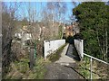 SE1222 : Footbridge over the canal at Cromwell Bottom by Humphrey Bolton