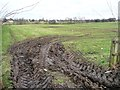 SE4344 : Muddy field entrance, north side of Bar Lane by Christine Johnstone