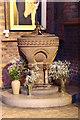 TQ3190 : St Mark, Noel Park - Font by John Salmon