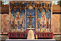 TQ3190 : St Mark, Noel Park - Reredos by John Salmon