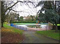 SO8275 : Former paddling pool at Brinton Park (2), Sutton Road, Kidderninster by P L Chadwick