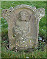 NT7725 : A symbolic gravestone at Morebattle Parish Church by Walter Baxter