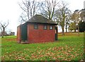 SO8275 : Former public convenience, Brinton Park, Sutton Road, Kidderminster by P L Chadwick