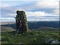 NT2616 : Cairn north-east of summit of Ward Law by Trevor Littlewood