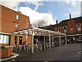 TQ3161 : Cycle racks outside Purley station by Stephen Craven
