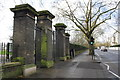 TQ2680 : Lancaster Gate park entrance, Bayswater Road by Roger Templeman