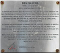 NT5485 : Ben Sayers - biographical plaque by M J Richardson