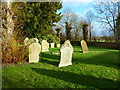 TL2547 : The Parish Church of St Peter, Wrestlingworth, Graveyard by Alexander P Kapp
