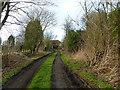TL2445 : A muddy track to All Saints Church, Eyeworth by Alexander P Kapp