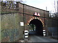 SJ5995 : Railway bridge over Park Road South by JThomas