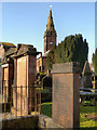 NX9775 : St Michael's Churchyard and Tower by David Dixon