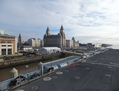 SJ3390 : The Three Iconic buildings as viewed from H.M.S. Illustrious by Richard Hoare