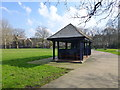 TQ3079 : Shelter in Archbishops Park Lambeth by PAUL FARMER