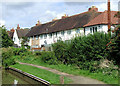 SP2055 : Towpath and housing in Stratford-upon-Avon, Warwickshire by Roger  Kidd
