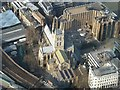 TQ3280 : Southwark Cathedral from The Shard by Rob Farrow