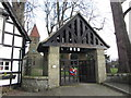 SJ1800 : Berriew church lych gate by Gareth James