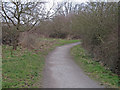 TQ6987 : Bridleway in Langdon Nature Reserve by Roger Jones