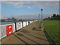 TQ4179 : Riverside path east of the Thames barrier by Stephen Craven