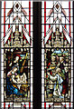 TQ2584 : St Mary with All Souls, Abbey Road, Kilburn - Stained glass window by John Salmon