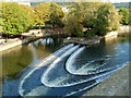 ST7564 : Pulteney Weir viewed from Grand Parade, Bath by Jaggery