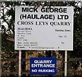 TF0300 : Cross Leys Quarry sign by Andrew Tatlow