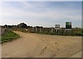 TL3779 : Entry to Somersham Quarry by Andrew Tatlow