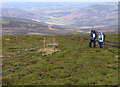 NO5583 : Double electric fence on Hill of Saughs by Trevor Littlewood