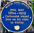 Photo of Phil May blue plaque